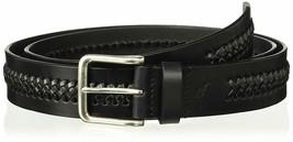 Tommy Bahama Men's 100% Leather Belt Woven Braided Center, Black, Size 44 - $30.00