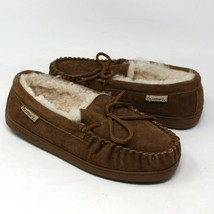 Bearpaw MOCCASIN Slipper House Shoe AUTHENTIC Brown Suede Mens 9 US NEW - $39.27