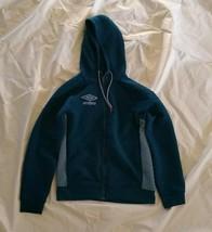 Umbro Men's Poseidon Coronet Blue Full Zip Hoodie Quilted Fleece Sweatsh... - $49.98