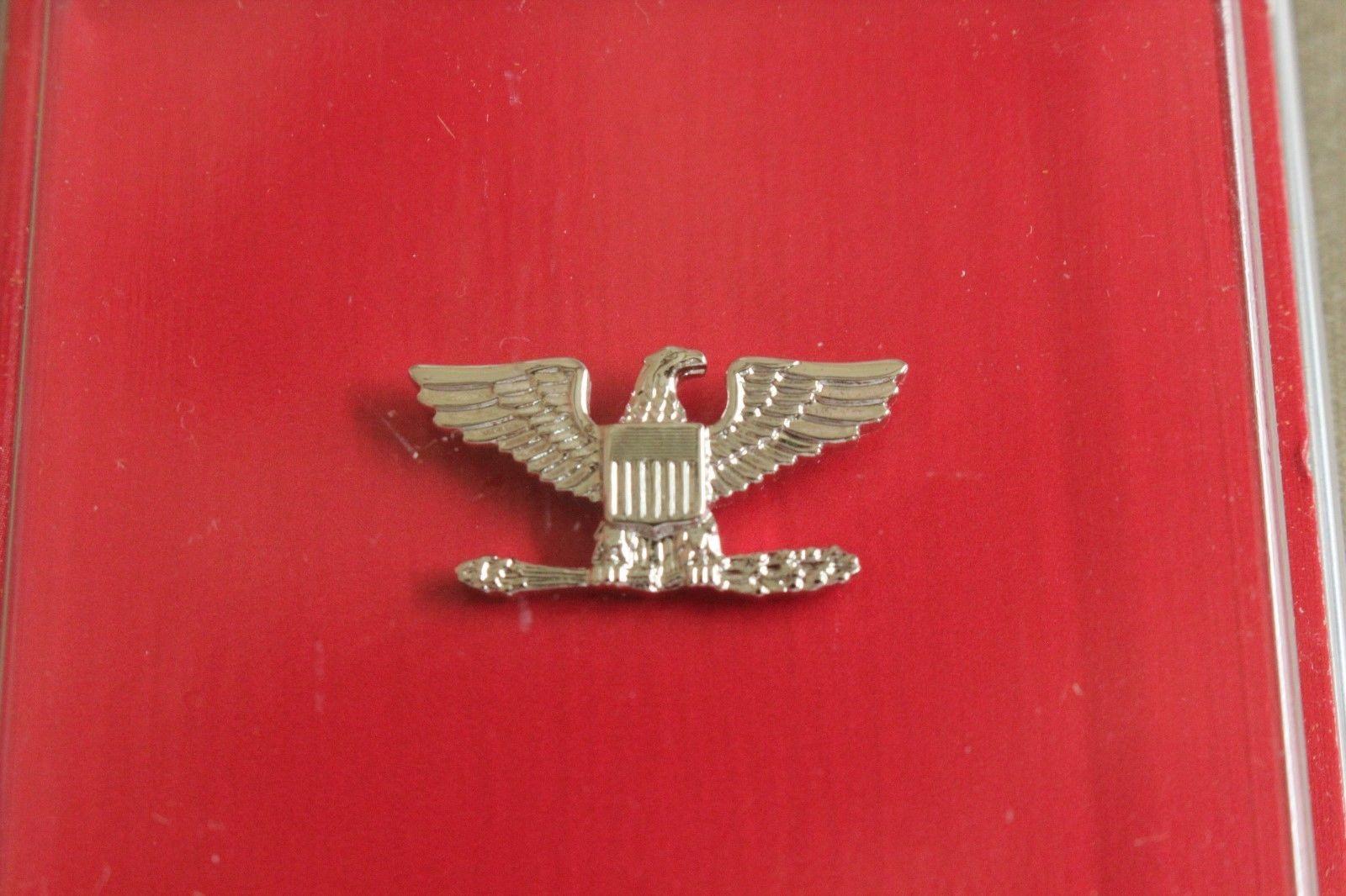 USN NAVY O-6 CAPT RANK OFFICER GARRISON CAP BADGE & DEVICE REDUCED SIZE MINI HR