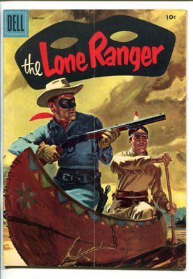 THE LONE RANGER #92-1956-DELL-TONTO-SCOUT-SILVER-SILVER BULLET-CANOE-vg