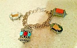 """Unbranded Vintage Egyptian Revival Bold Couture 8"""" Link Charm Bracelet - $399.99"""