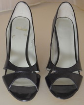 Nine West Open Toe Black Heels Size 7.5 - $39.59