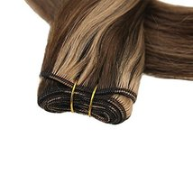 "Easyouth Natural Hair Weft Remy Human Hair Sew in Hair Extensions 14"", 70g, Colo image 6"