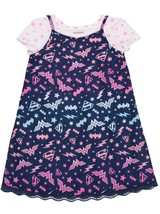 DC Comics Superhero Girls Lace Hem Slip Dress W Shirt Medium 7-8 NEW - $13.85