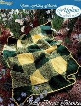 Crochet Pattern - Cozy Picnic Blanket - The Needlecraft Shop - Take-Along Blocks - $1.50
