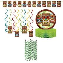 Luau Tropical Hawaiian Tiki Time Party Decoration Party Supplies Pack: S... - $21.78