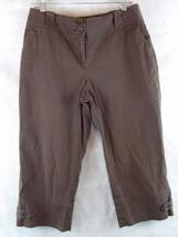 Ann Taylor LOFT Womens Julie Fit Brown Capris Crop Pants Size 10   33 X 20 - $11.83