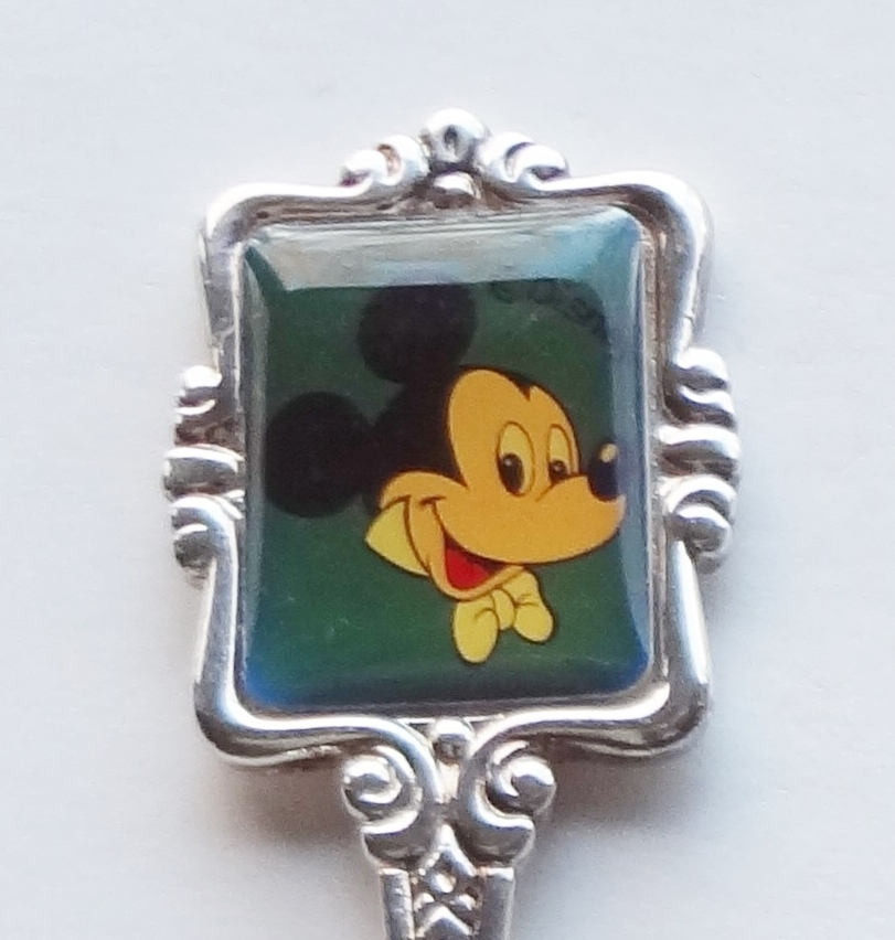 Collector Souvenir Spoon Mickey Mouse Disney Emblem  - $9.99
