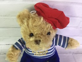 Keel Toys Paris France Teddy Bear Stuffed Animal Tan Beige Red Blue White Outfit - $19.79