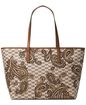 New Michael Kors Studio Emry Large Heritage Paisley Tote Variety Colors - $296.99