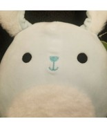 "NEW NWT 8"" BUTTONS the BLUE BUNNY with FUR Squishmallow Plush Toy Easter... - $17.72"