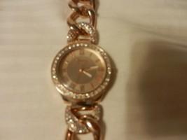 Geneva Platinum #4799 Women's Jeweled Watch Rose Gold Color - $33.41