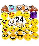 OHill 24 Pack Emoji Plush Pillows Mini Keychain For Birthday Party, Hom... - $25.28