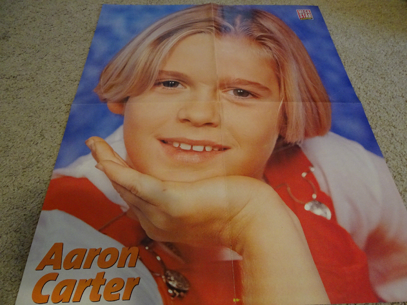 Aaron Carter teen magazine poster clippings Tiger Beat Bop