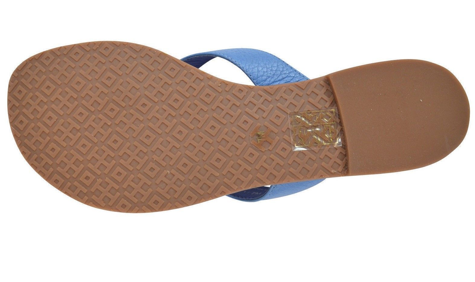 e131a5e13797 NEW WOMENS TORY BURCH THORA THONG FLAT TUMBLED LEATHER CHAMBRAY GOLD SANDALS