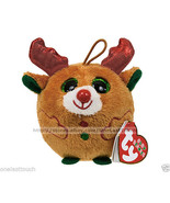 TY Baby Beanies CHESTNUT The Reindeer ORNAMENT Happy Holiday CHRISTMAS New! - $7.13