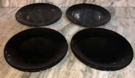 "Royal Norfolk Black 10 1/2"" Stoneware Dinnerware Plates Set Of 4-NEW SHI... - $39.08"