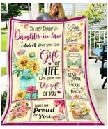 Sunflower To My Dear Daughter-In-Law I Didn't Give You The Gift Blanket ... - $49.84+