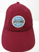 Life Is Good Keep It Simple Snapback Adult Cap Hat - $14.84