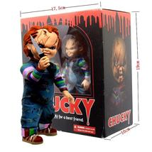 Child's Play Bride of Chucky 1/10 Scale Horror Doll Chucky 12cm Action Figure - $30.90 - $32.90