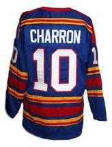 Any Name Number Kansas City Retro Hockey Jersey New Sewn Charron Any Size image 2