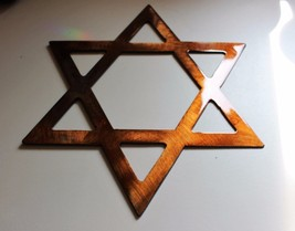 "Star of David  24"" Copper/Bronze HANGING METAL WALL ART DECOR - $48.50"