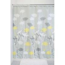 InterDesign Daizy Fabric Shower Curtain, Standard 72  x 72 , Gray/Yellow - $29.83