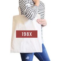 198X Natural Canvas Tote Bag Trendy Shoulder Bag Eco-Friendly - $15.99