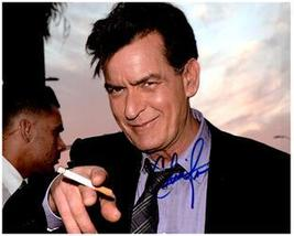 CHARLIE SHEEN  Authentic Original 8x10 SIGNED AUTOGRAPHED PHOTO w/ COA 2016 - $48.00