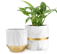 Ceramic Flower Pot Garden Planters 6/4.8 inch 2 Pack Indoor Plants Conta... - $44.94