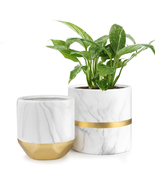 Ceramic Flower Pot Garden Planters 6/4.8 inch 2 Pack Indoor Plants Conta... - £35.91 GBP