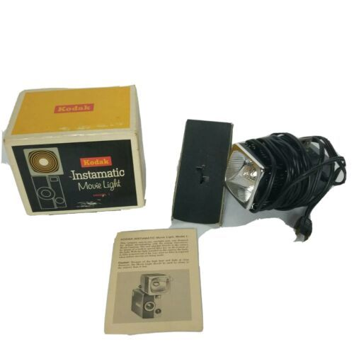 Vintage Kodak Instamatic Movie Light Model 1 Original Box Tested Working  - $37.21