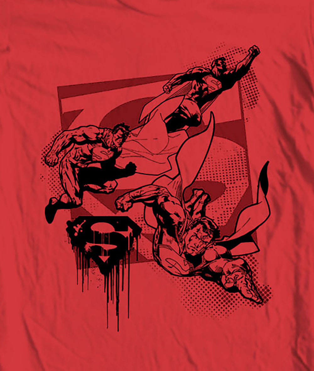 Superman Tee shirt Justice League cotton Man of Steel  tee comic DC SM1719