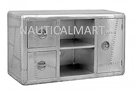 ALUMINIUM TV DRESSER SIDEBOARD WITH DRAWERS BY NAUTICALMART - $1,979.01