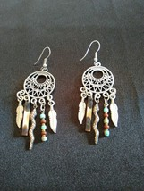Dreamcatcher Charm Earrings with Feathers, Seashells, Snakes, and Beads - $17.95