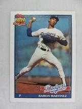 Ramon Martinez Los Angeles Dodgers 1991 Topps Baseball Card 340 - $0.98