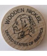 "Wooden Nickel From: ""The Big Bonanza"" Virginia City, Nv. - (sku#4979) - $7.50"