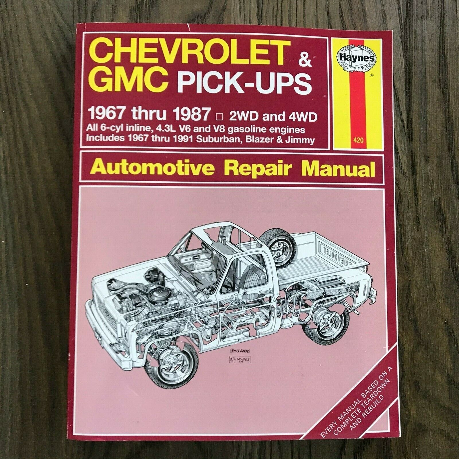 Primary image for Chevrolet & GMC Pick-Ups  1967-1987  Haynes Repair Manual, Service Guide Book