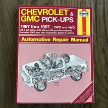 Chevrolet & GMC Pick-Ups  1967-1987  Haynes Repair Manual, Service Guide... - $11.83