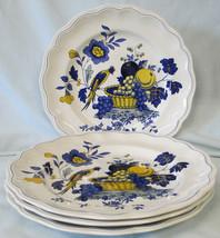 Spode Blue Bird S3274 Fine Stone Dinner Plate Set of 4 - $88.00