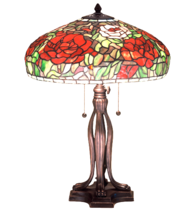 "22.5""H Tiffany Peony Table Lamp - 32292 - £613.90 GBP"
