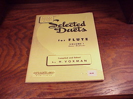 Selected Duets For Flute Book, Volume I, compiled and edited by H. Voxman - $7.95