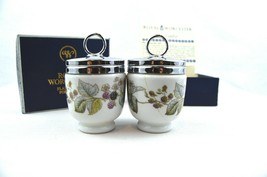 Royal Worcester Egg Coddlers - Blackberries & Leaves - Made In England O... - $40.00