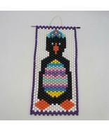 Vintage Handmade Perline Pinguino Gancio da Parete - $53.82