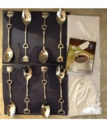 Keepsake Tea Spoons Lot of 8 complete with Ribbons & Place Cards Packaged - $17.33