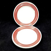 Corelle Corning Strokes of Color Cranberry Red SALAD LUNCHEON PLATE Set ... - $29.88
