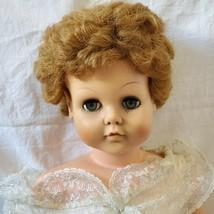 "Sweet Rosemary Doll 1957 30""Vinyl Body By Delux Doll Company Original Dress - $47.52"