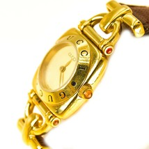 Gold Gucci Womens Watch leather strap UK SELLER BHS - $524.13