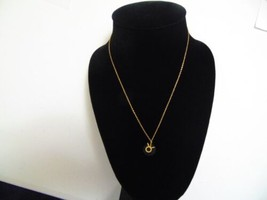 """Macys 15 3/4"""" w2"""" ext gold sterling silver pendant necklace K448 - $23.99"""
